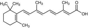 Scheikundige formule van tretinoïne
